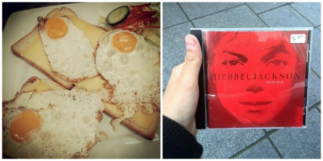 Lunchen omelet Rotterdam Zuidplein, Michael Jackson, Invincible, red colour