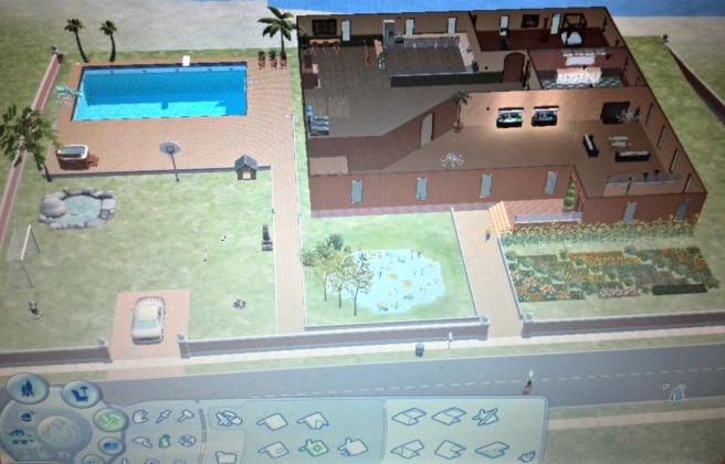 Sims 2 huis en tuin bouwen