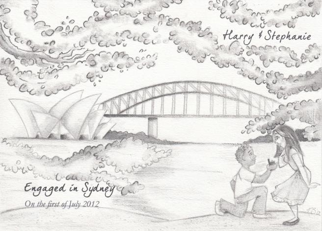 Nadyart Illustratie, Verloving in Sydney, Australië
