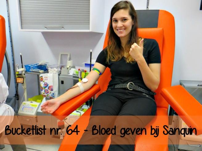 Bucketlist nr. 64 | Bloeddonor worden bij Sanquin