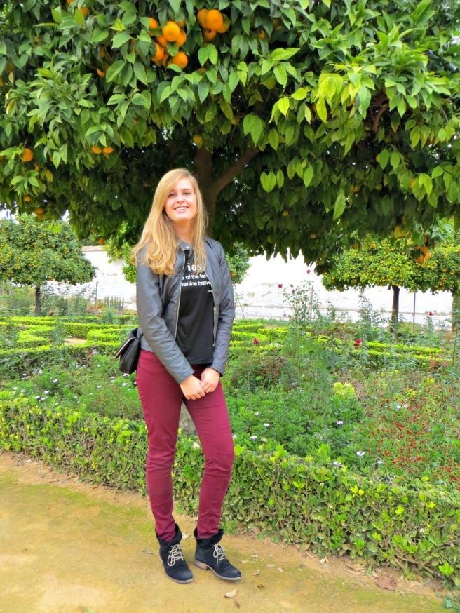 Outfitfoto's in de Arabische tuinen van Alcazar in Còrdoba