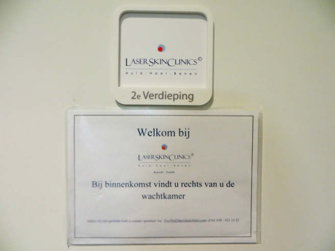 Ingang wachtkamer, acnebehandeling Laser Skin Clinics Zwolle Stationsweg 5