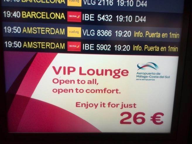 Vlucht Vueling Malaga naar Amsterdam