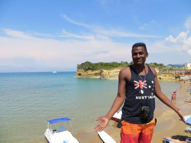 9. Groot strand Sidari