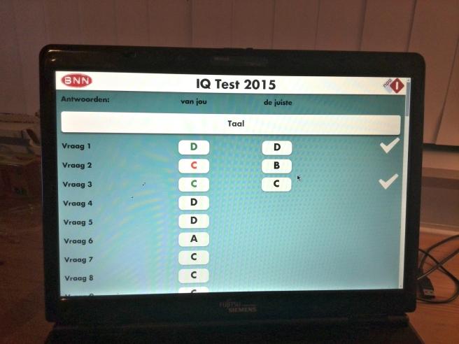 IQ TEST 2015 BNN Online