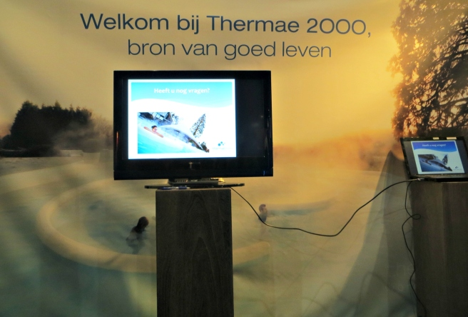 Eveline Ubachs, Thermae 2000 stand, Gezondheidsbeurs 2015 Utrecht