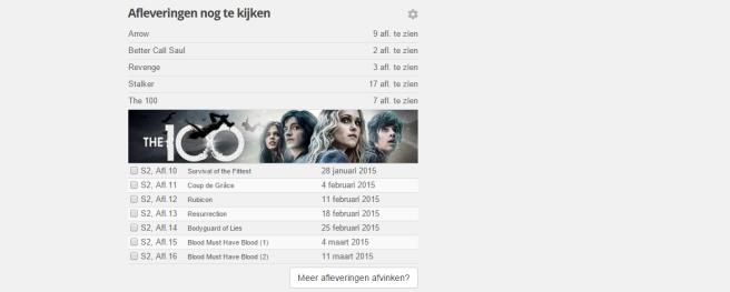 Review mijnserie.nl: bijhouden welke afleveringen van series je nog moet kijken