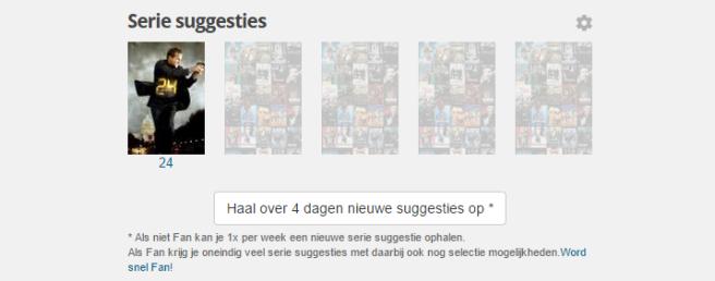 Review Mijnserie.nl: serie suggesties ophalen