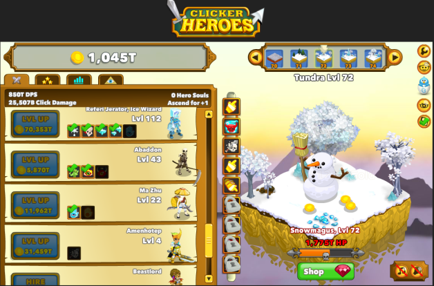 At the moment | Mijn drie favoriete games: Clicker Heroes