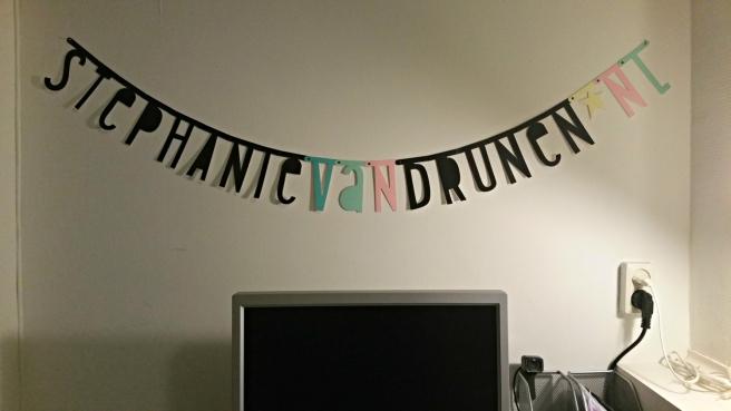 Pastel letterslinger Goodiebagshop.com